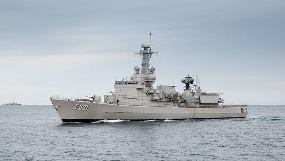 Het Belgische fregat Louise-Marie.