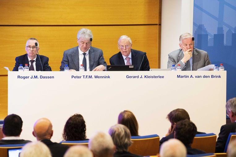 Leden van de Raad van Commissarissen voor aanvang van de Algemene Vergadering van Aandeelhouders van hightechbedrijf ASML. Beeld ANP