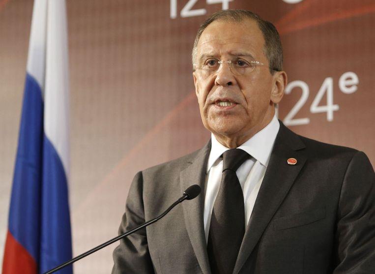 Sergej Lavrov, Russisch minister van Buitenlandse Zaken.