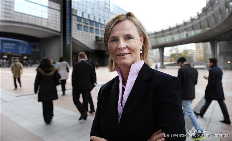Annie Schreijer-Pierik voor het Europees Parlement in Brussel.