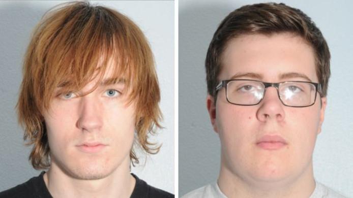 Thomas Wyllie (links) en Alex Bolland (rechts) beraamden een aanslag op een Britse school.