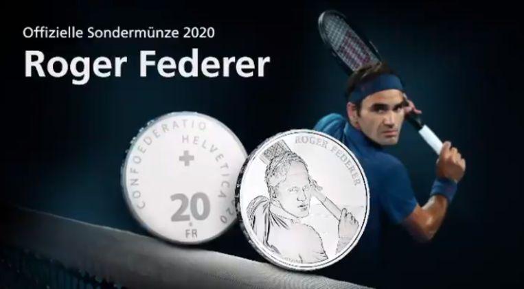 De muntstukken van Federer.