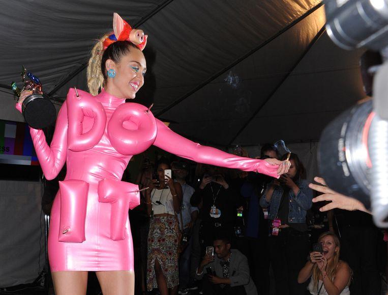 Miley Cyrus tijdens haar 'Bangerz'-tour.