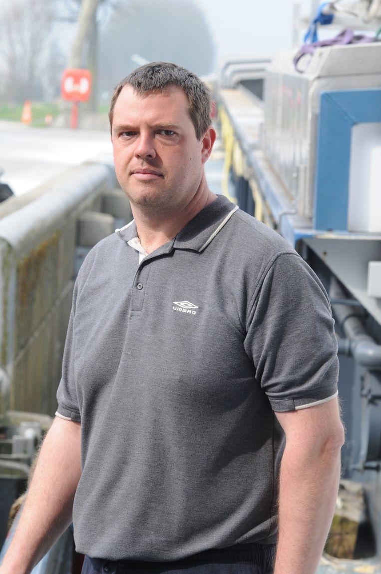 Schipper Georges De Witte (35) uit Oostakker.