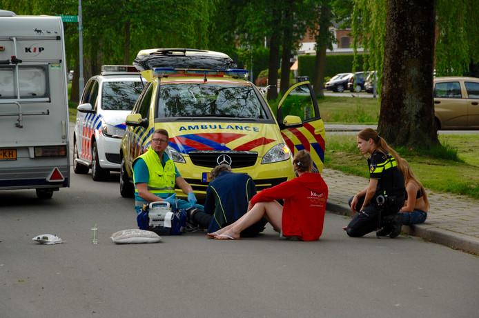 Ambulance aanwezig na het ongeval.