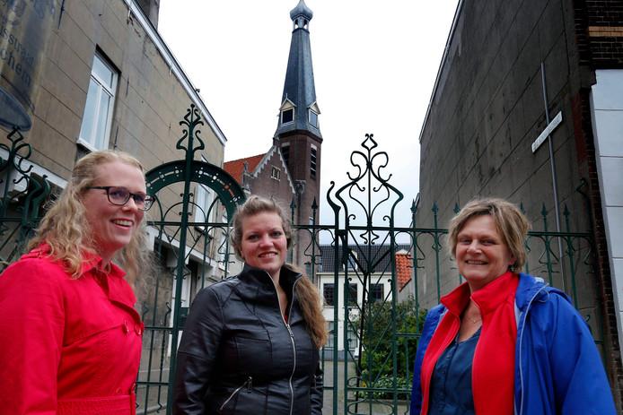 De drie initiatiefneemsters van het bijzondere concert dat volgende week in de Rehobothkerk wordt gegeven.