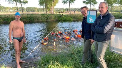 Nieuw seizoen openwaterzwemmen geopend aan Damse Vaart