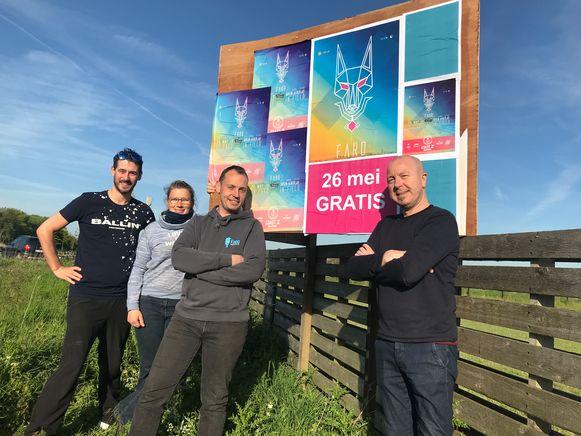 De organisatoren van het elektronische muziekfestival Faro in Oudenburg.