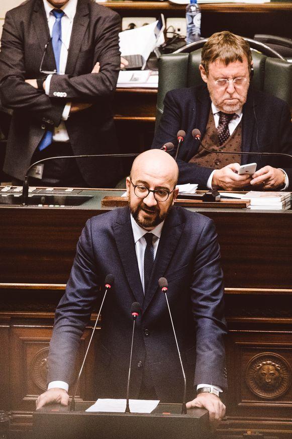 Premier Michel in de Kamer vanmiddag.