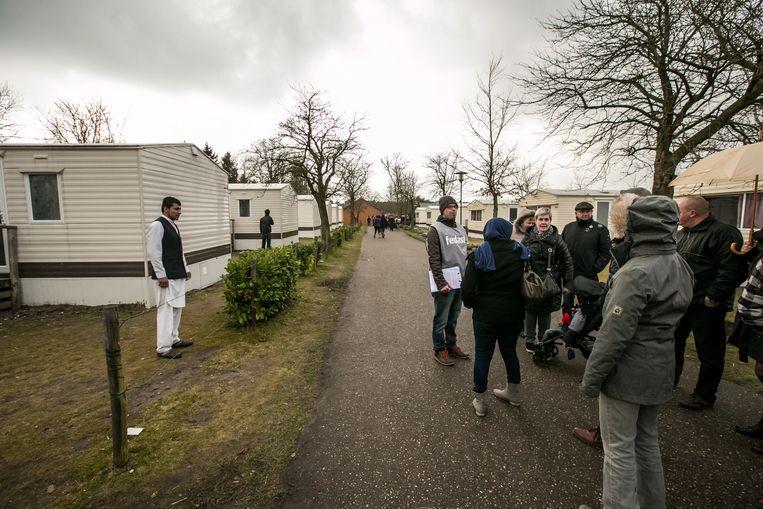 Het asielcentrum in Parelstrand