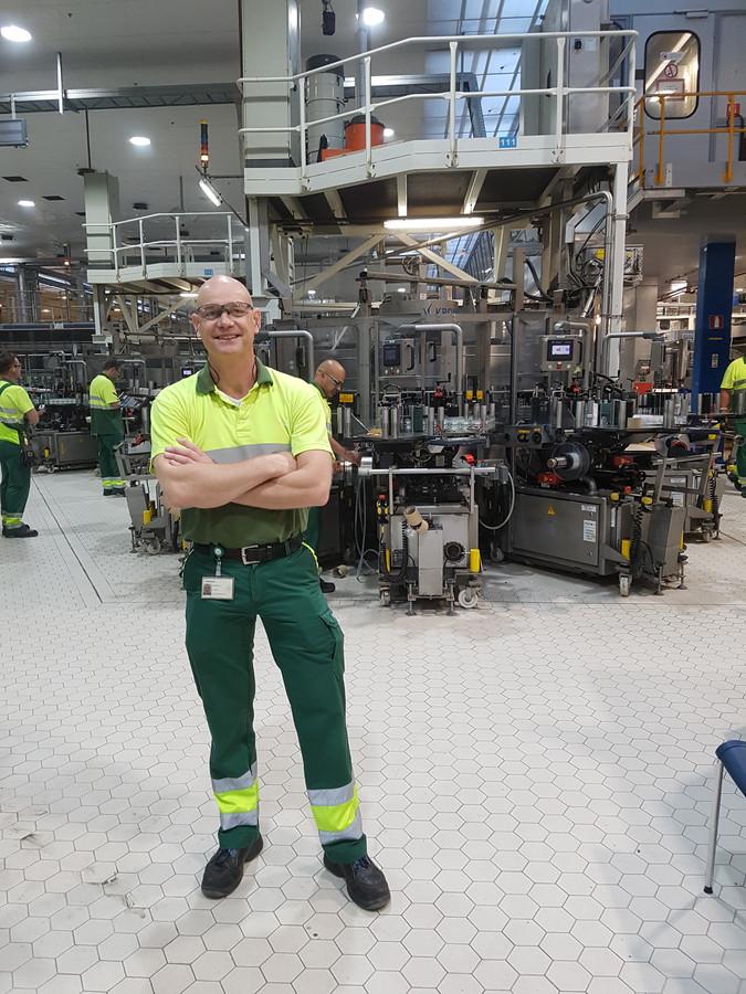 Eef Stiekema in de Heinekenbrouwerij.