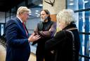 Hugo Borst en Carin Gaemers in gesprek met Staatssecretaris Martin van Rijn.
