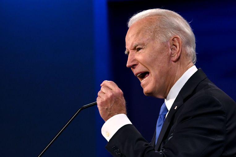 Biden uitgeroepen tot winnaar in het debat met Trump. Beeld AFP