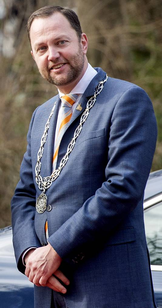 Burgemeester Milo Schoemaker van Gouda.