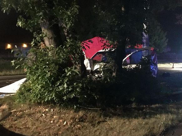 De vrouw belandde met haar wagen tegen een boom op de middenberm van de N16. Zij overleed ter plaatse aan haar verwondingen.