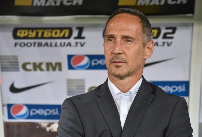 Adolf 'Adi' Hütter als trainer van BSC Young Boys.