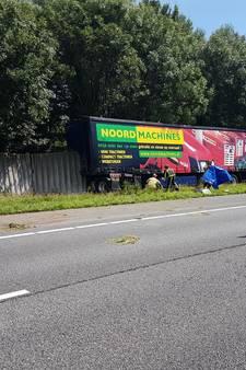 A35 weer vrij na ernstig ongeluk met vrachtwagen bij Delden
