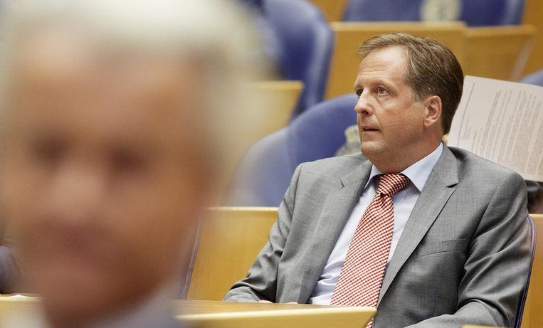 Pechtold in de Tweede Kamer, op de voorgrond Wilders Beeld ANP