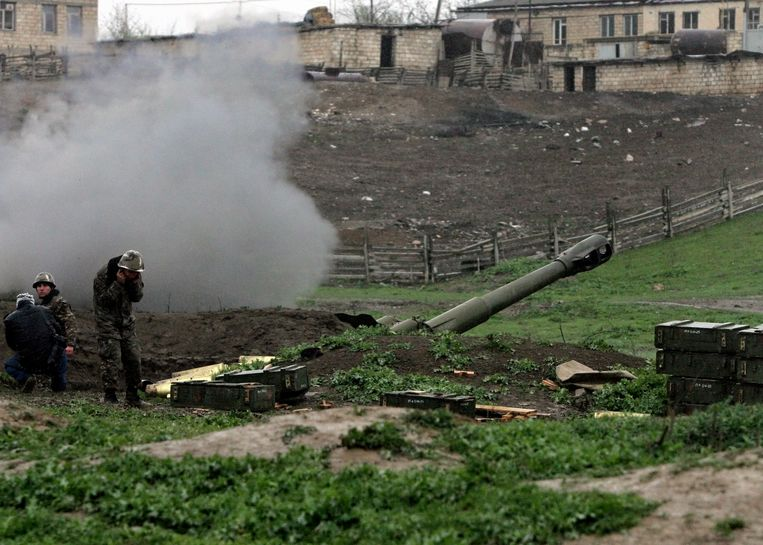 Armeense artillerie. Beeld EPA
