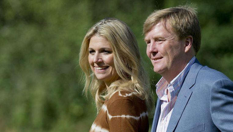 Willem-Alexander en Máxima vandaag. Beeld ANP
