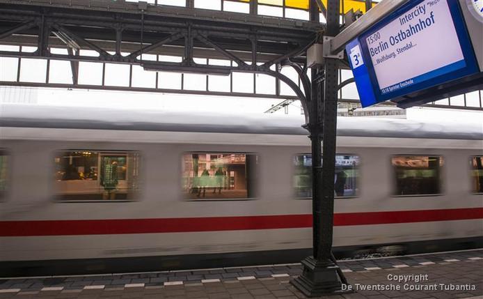 Internationale trein van Amsterdam naar Berlijn