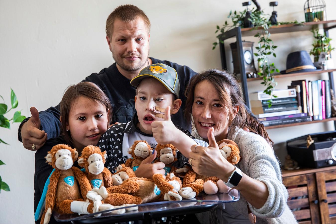 Graziano met zijn familie.
