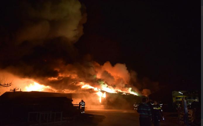 De stalbrand in Nijmegen.