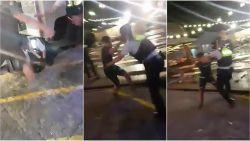 VIDEO: Opnieuw geweld tegen politie: jongeren schoppen en kloppen op hoofd van agenten op Sinksenfoor