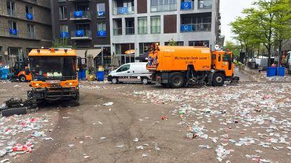 Supporters laten plastic troep van ruim vier ton achter op stadsplein