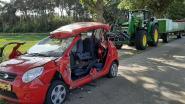 Gewonde na ongeval met wagen en tractor