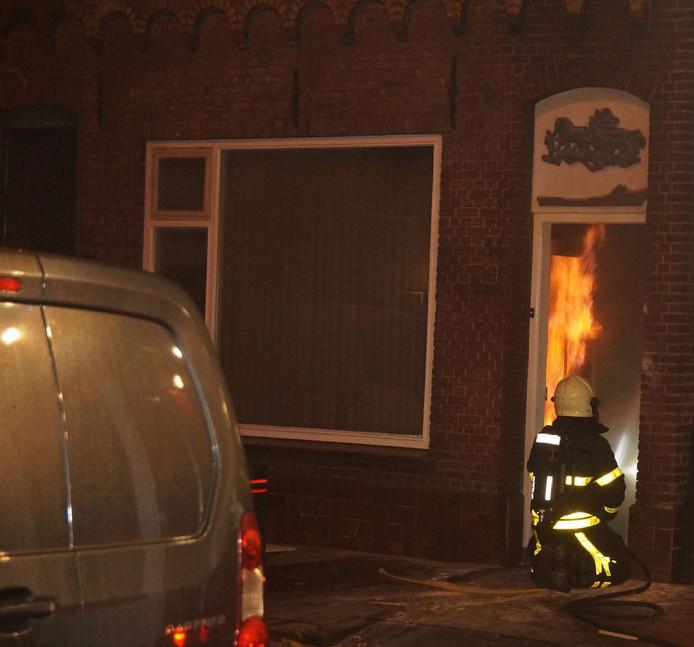 Brand in woning in Waalwijk