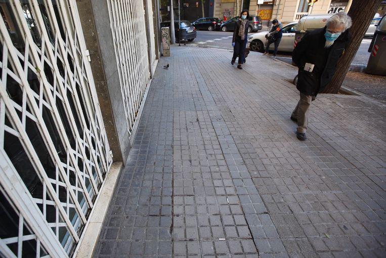 Dit is een van de plekken in Barcelona waar een dakloze vermoord werd.