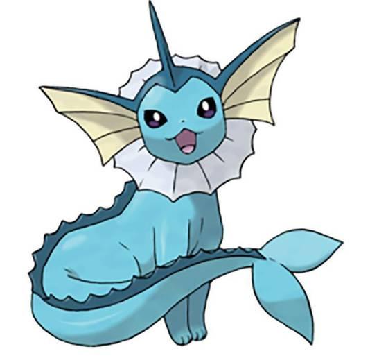 Een Vaporeon uit Pokémon Go.