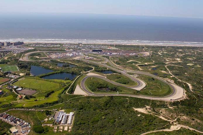 Circuit Zandvoort vanuit de lucht.