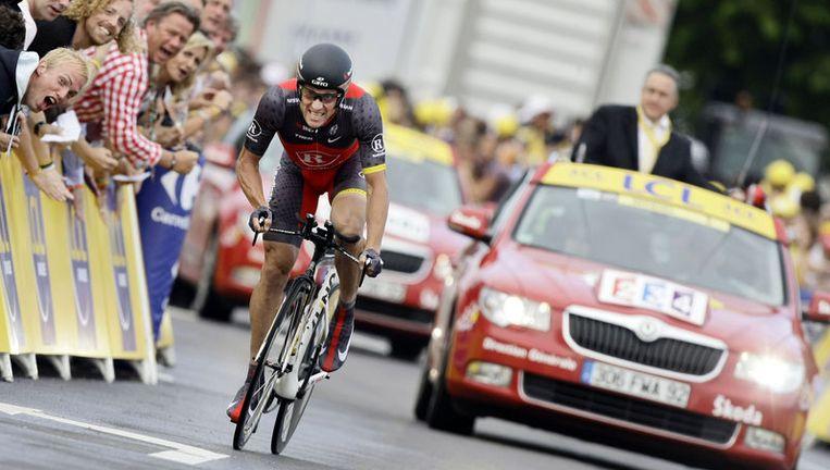 Lance Armstrong (Radioshack Team) in actie tijdens de proloog van de Tour de France. Foto ANP Beeld