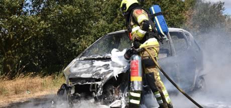 Auto uitgebrand in Malden
