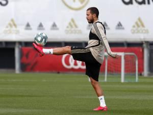 Eden Hazard en grande forme à l'entraînement avec le Real Madrid