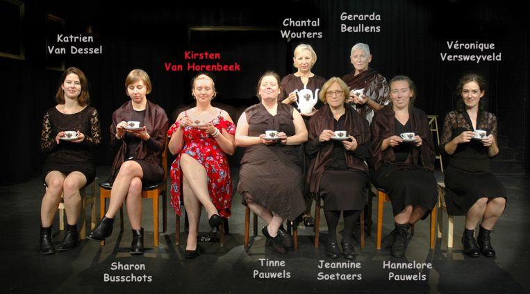 De cast van Het huis van Bernarda Alba.