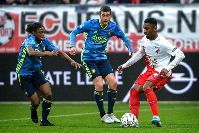 FC Utrecht - Feyenoord, eind 2019. Beide clubs hopen de bekerfinale alsnog te spelen.