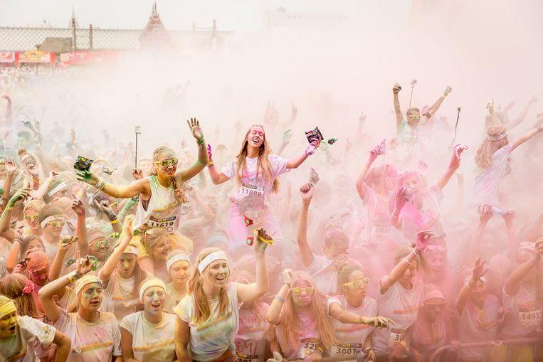 Sfeerbeeld van de 'Color Run', vorig jaar in Brussel.