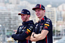 Max Verstappen en Pierre Gasly in Monaco.