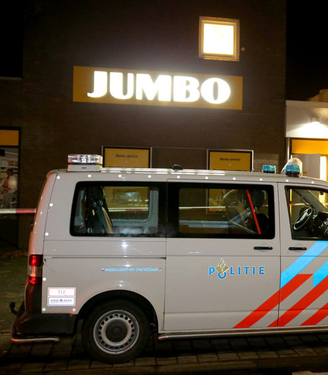 Overval op Jumbo supermarkt in Lage  Zwaluwe, politie zoekt twee daders