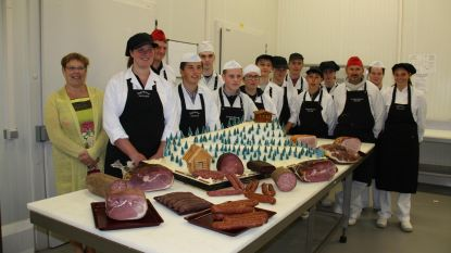 Leerlingen slagerijschool scoren met skipiste van rundsvet