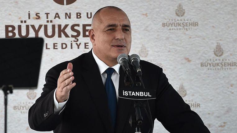 Bulgaarse premier Borissov benadrukte bij de aftrap van zijn EU-voorzitterschap dat hij Polen 'een geweldig land' vindt dat hij 'zeer respecteert'. Beeld afp
