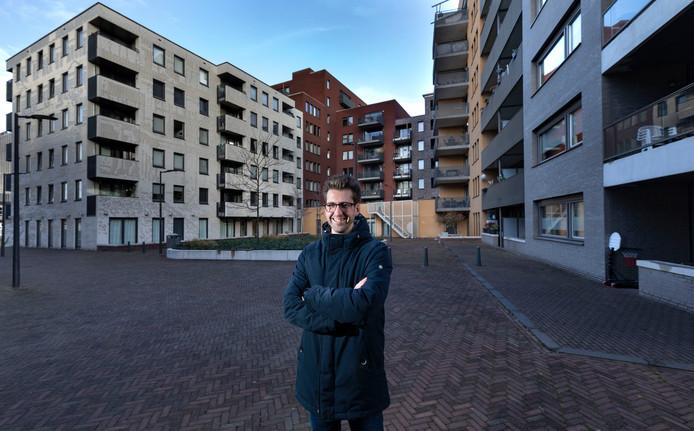Stadspsycholoog Sander van der Ham op Strijp-S.