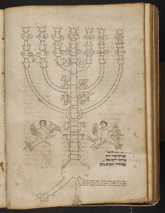 Fragment uit de Tora Menorah