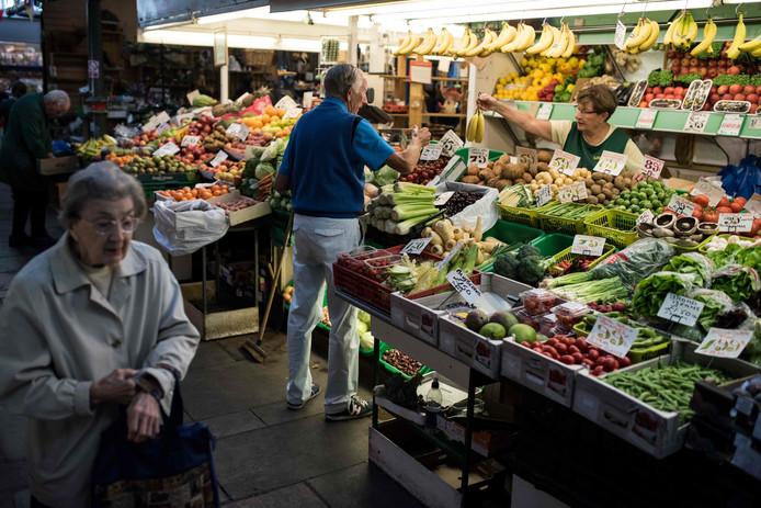 Un marché à Darlington, dans le nord de l'Angleterre.