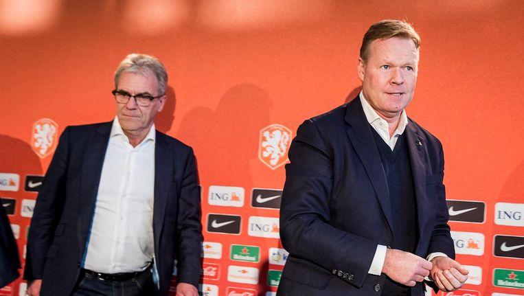 Koeman tijdens zijn presentatie bij de KNVB, begin vorige maand. Beeld Pro Shots / Toin Damen