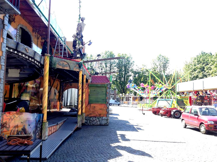 Kermis wordt opgebouwd in Den Bosch