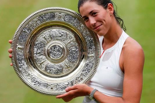 Wimbledon-winnares Garbiñe Muguruza stijgt tien plekken